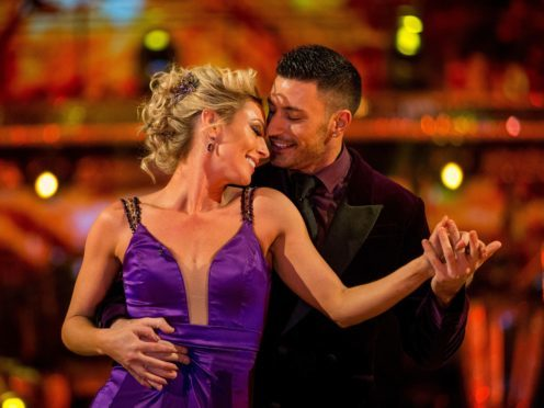 Faye Tozer and her partner Giovanni Pernice on Strictly Come Dancing (BBC/PA)