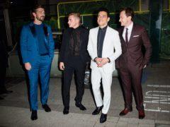 Gwilym Lee, Ben Hardy, Rami Malek and Joe Mazzello attending the Bohemian Rhapsody World Premiere (Matt Crossick/PA)