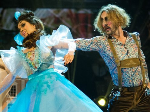 Seann Walsh and Katya Jones dance to I Put A Spell On You by Screamin' Jay Hawkins (BBC/PA)