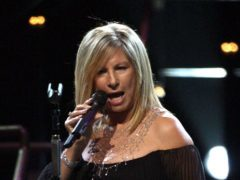 Barbra Streisand performing at the O2 Arena in south east London. (Yui Mok/PA)