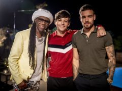 Nile Rodgers, Louis Tomlinson and Liam Payne (X Factor/PA)