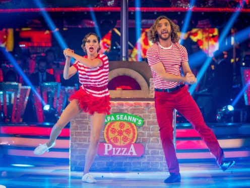 Strictly's Seann Walsh and Katya Jones pull off first dance since kiss drama (BBC/Guy Levy)