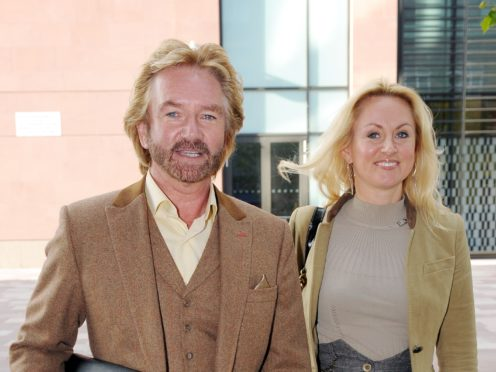 Noel Edmonds' wife 'pleased' to see him shirtless in I'm A Celeb jungle (Tim Ireland/PA)