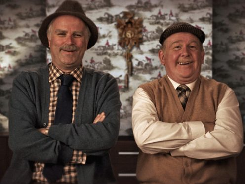 Jack Jarvis, played by Ford Kiernan (right), and Victor McDade, played by Greg Hemphill (left), in Still Game (Alan Peebles/BBC Scotland/PA)