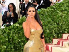 Kim Kardashian West dressed up as Pamela Anderson for Halloween (Ian West/PA)