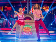 Seann Walsh and Katya Jones have been voted off Strictly (Guy Levy/BBC)