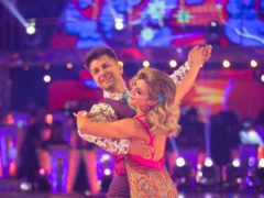 Ashley Roberts and Pasha Kovalev during the dress rehearsal for Saturday's Strictly Come Dancing (BBC)