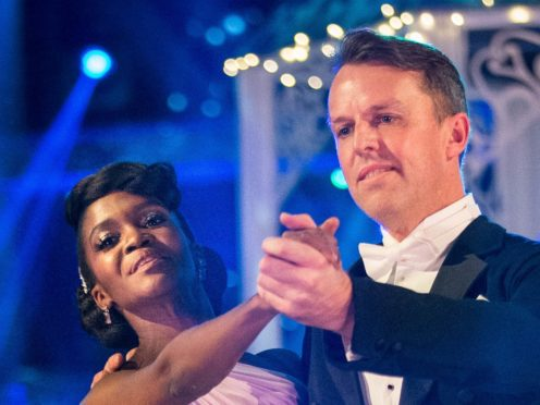 Oti Mabuse and Graeme Swann performing the waltz (Guy Levy/PA)