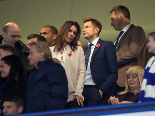 Steve Parish and Susanna Reid were pictured at Stamford Bridge Adam Davy/PA)