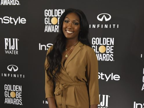 Idris Elba's daughter Isan has been named as the 2019 Golden Globe Ambassador (Photo by Jordan Strauss/Invision/AP)