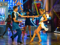 Pasha Kovalev and Ashley Roberts in Blackpool (Guy Levy/BBC)