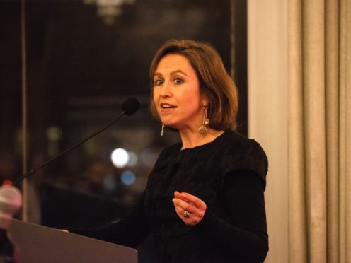 Vanessa Reed , CEO of the PRS Fundation, spoke at the European Parliament in Brussels (Keychange/PA)