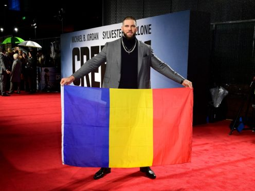 Florian Munteanu at the European premiere of Creed 2 in London (Ian West/PA)