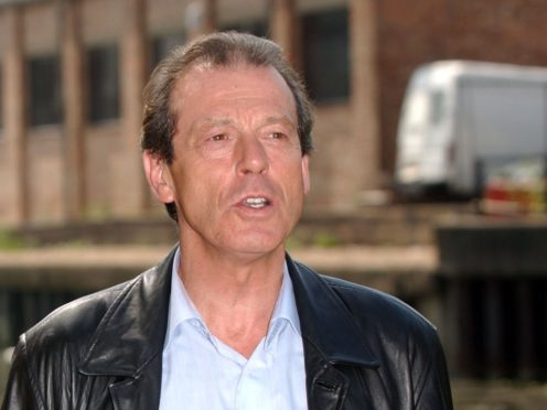 Leslie Grantham with actress Letitia Dean (Myung Jung Kim/PA)