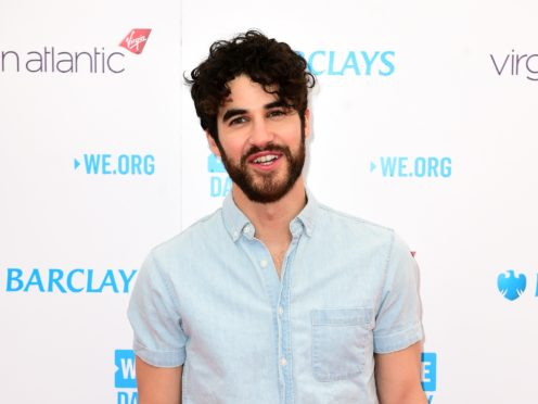 Darren Criss is known for playing gay characters in Glee and American Crime Story: The Assassination Of Gianni Versace (Ian West/PA)