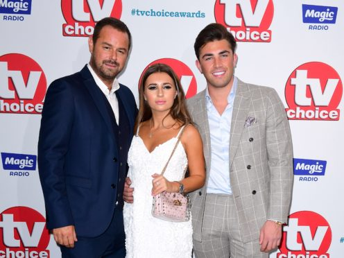 Danny Dyer, Dani Dyer and Jack Fincham (right) attending the TV Choice Awards at the Dorchester Hotel, Park Lane, London (PA)
