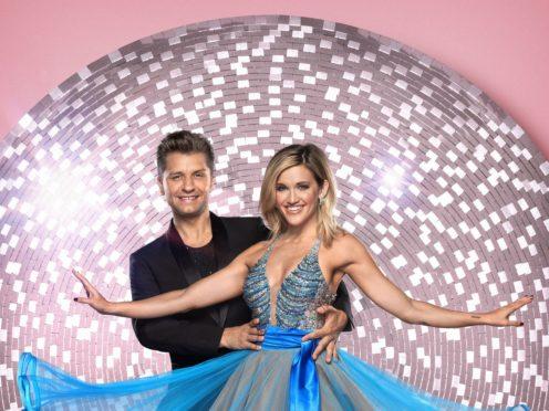 Ashley Roberts with her dance partner Pasha Kovalev. (Ray Burmiston)