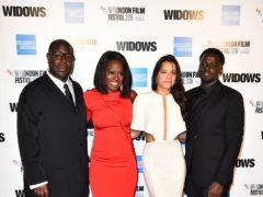 Steve McQueen, Viola Davis, Michelle Rodriguez and Daniel Kaluuya of Widows (Matt Crossick/PA)