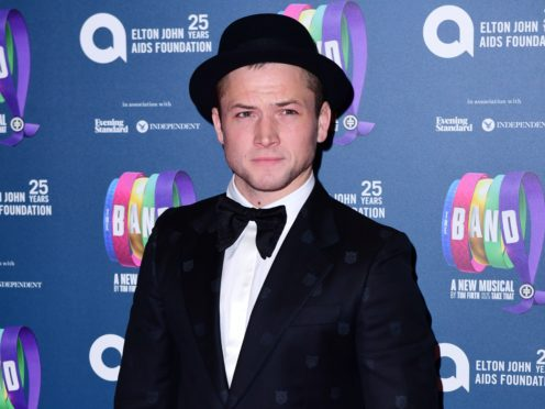 Taron Egerton at the gala night for Take That's The Band musical (Ian West/PA)