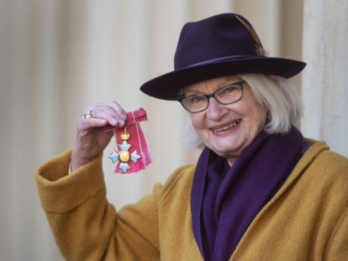 Liz Calder with her honour outside Buckingham Palace (Victoria Jones/PA)
