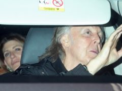 Sir Paul McCartney and his wife Nancy Shevell arrive at a party at the home of Mick Jagger in Chelsea (Yui Mok/PA)