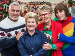 Bake Off judges Paul Hollywood and Prue Leith with presenters Noel Fielding and Sandi Toksvig (Channel 4)