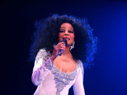 American diva Diana Ross performs live on stage at Wembley Arena (Andy Butterton/PA)