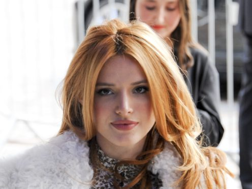 Bella Thorne said she was 'proud' to have gained weight as she shared throwback pictures (Edward Smith/PA)