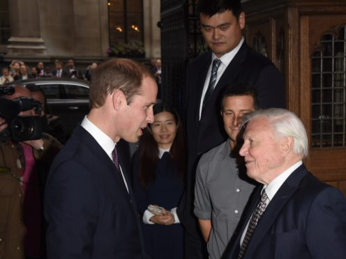 The Duke of Cambridge will interview Sir David Attenborough (Stuart C. Wilson/PA)