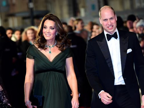 The Duke and Duchess of Cambridge attending the EE British Academy Film Awards in 2018 (Ian West/PA)
