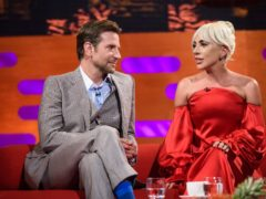 Bradley Cooper joined Lady Gaga on stage for a surprise performance (Matt Crossick/PA)