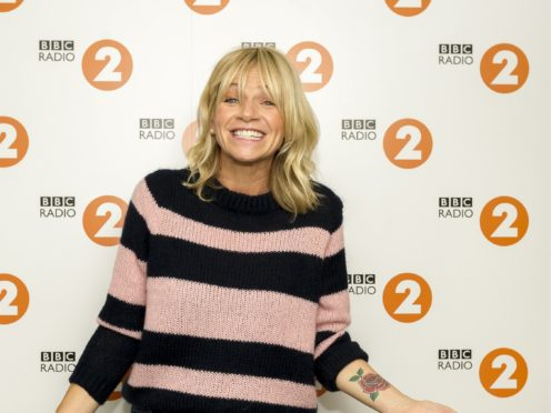 For use in UK, Ireland or Benelux countries only BBC handout photo of radio presenter Zoe Ball who has been announced as the next host of the Radio 2 Breakfast Show, replacing current host Chris Evans when he leaves later this year.