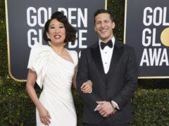 Hosts Sandra Oh, left, and Andy Samberg (Jordan Strauss/Invision/AP)