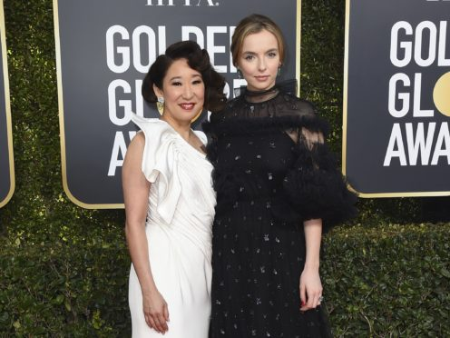 Sandra Oh, left, and Jodie Comer (Jordan Strauss/Invision/AP)