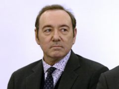 Kevin Spacey stands in district court (Nicole Harnishfeger/The Inquirer and Mirror via AP, Pool)