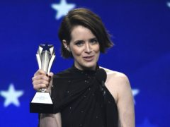 Claire Foy said 'all I have to offer is myself' as she was honoured for her contribution to women in film (Chris Pizzello/Invision/AP)