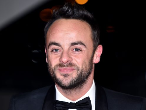 Ant McPartlin, who won a surprise award on the night. (Matt Crossick)