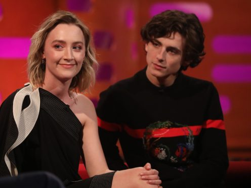 Saoirse Ronan (left) and Timothee Chalamet (Isabel Infantes/PA)