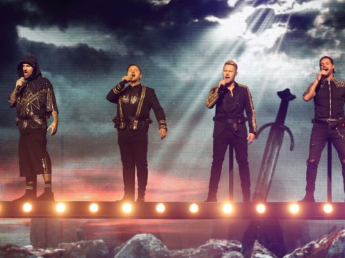 Boyzone on stage at the SSE Arena, Belfast (Niall Carson/PA)