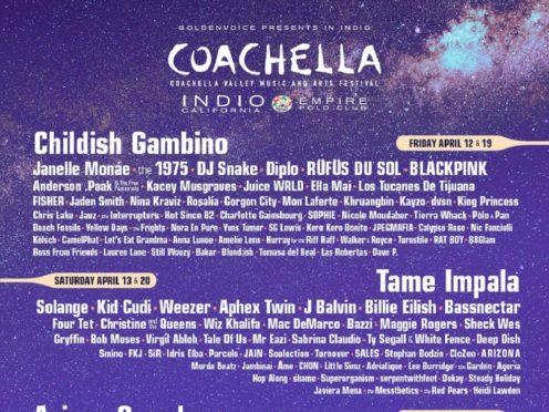 The Coachella 2018 line-up (Coachella)