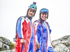 Matt LeBlanc and Chris Harris wear wingsuits in trailer for new Top Gear series (BBC/PA)