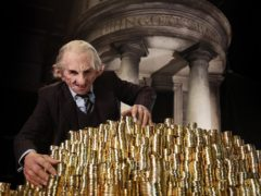 A goblin preparing for the launch of Gringotts Wizarding Bank (Warner Bros. Studio Tour London – The Making of Harry Potter)