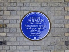 Derek Jarman's blue plaque (English Heritage/PA)