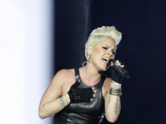 Pink on stage (PA)