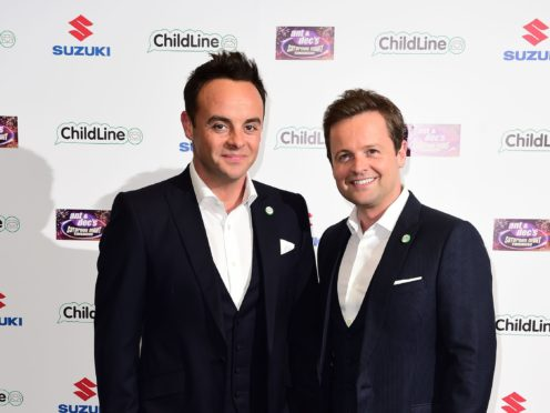 Anthony McPartlin (left) and Declan Donnelly attending Ant & Dec's Saturday Night Takeaway Childline Ball at Old Billingsgate in London.