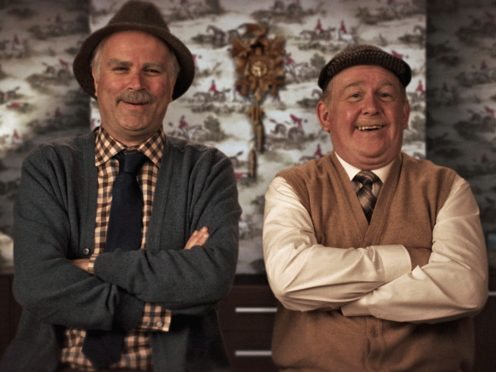 Jack Jarvis, played by Ford Kiernan, and Victor McDade, played by Greg Hemphill, in Still Game. (Alan Peebles/BBC Scotland)