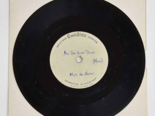 A rare test pressing of Mott the Hoople's All The Young Dudes single is being sold (Clare Hobbs Photography/PA)