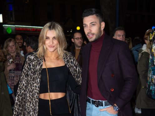 Ashley Roberts and Giovanni Pernice at the press night of Rip It Up in London (Matt Crossick/PA)