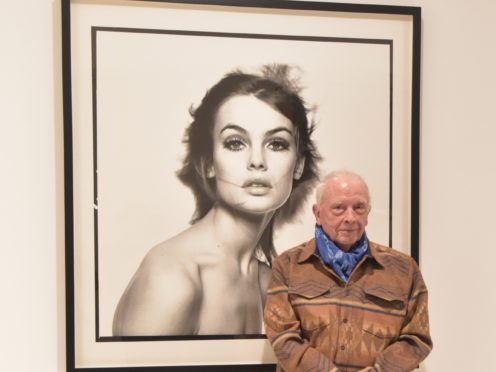 Photographer David Bailey at a press preview of his new exhibition at the Gagosian Art Gallery in London. (Nick Ansell/PA)