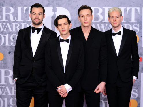 Matty Healy of The 1975 quoted the words of music journalist Laura Snapes during the band's acceptance speech (Victoria Jones/PA)